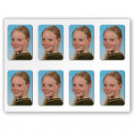 8 Ministicker Fotopapier