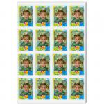 16 Briefmarkenaufkleber 'Kinderpost AG'