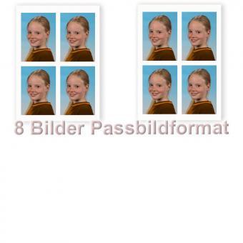8 Fotos im Passbildformat