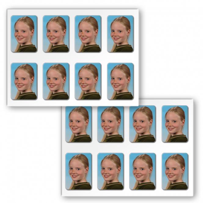 16 Ministicker Fotopapier