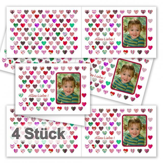 4 Klapp-Grußkarten